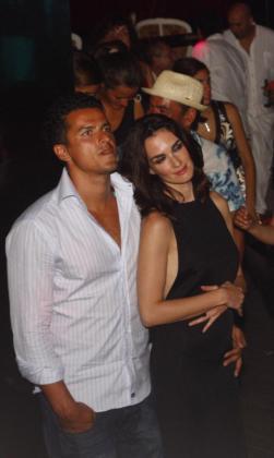 Paz Vega y Orson Salazar durante unas vacaciones en Eivissa.