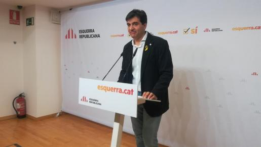 El portavoz de ERC, Sergi Sabrià, en una imagen de archivo