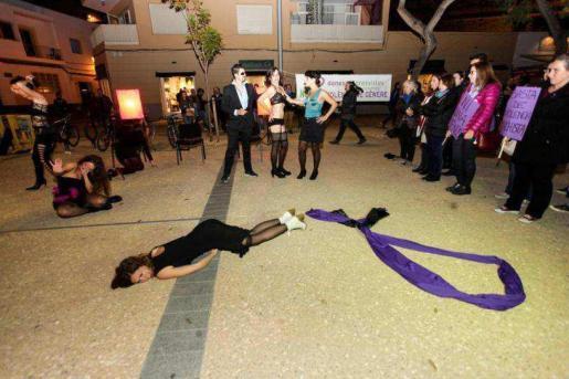 Imagen de archivo de un acto celebrado en Ibiza en el Día Internacional de la Mujer