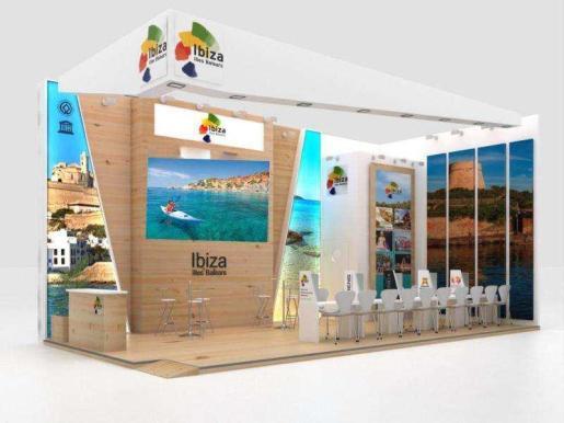 Imagen del estand que Ibiza llevará a esta edición de la ITB.