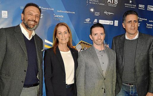 Juan Miguel Ferrer, Theresa Zavell, Ricardo Muntaner y Miguel Indurain.