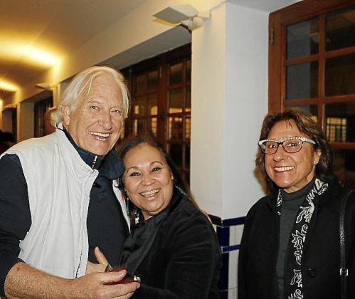 Sandro Fantini, Marisa Cañas y Pilar Cerdá.