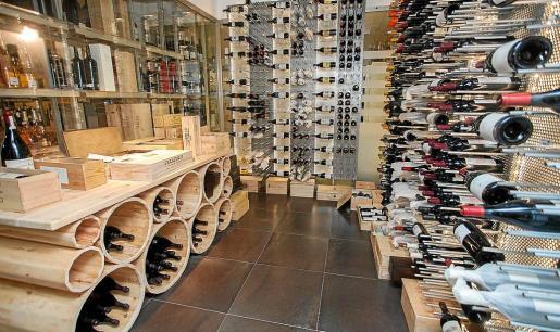 El espacio reservado en Vila Vins para los vinos de mayor calidad.