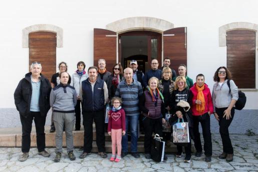 Foto de los primeros participantes que estaban ayer por Sant Josep para participar en la primera jornada del IV Congreso de AFONIB y el II Encuentro de AEFONA.