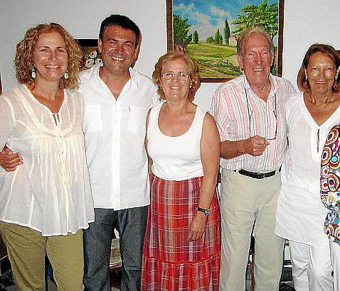 Juana Gost, Nicolau Conti, Bel Gost, Jaime Fuster y Margalida Santandreu.