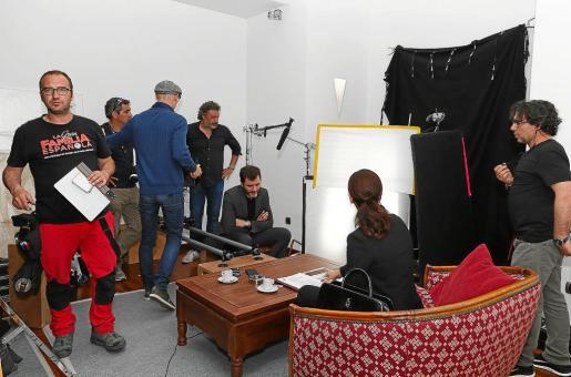 Una imagen del rodaje que se llevó a cabo en una casa de Rafel.