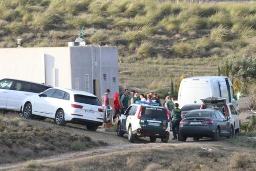 En la imagen, la Guardia Civil traslada a Ana Julia, a la finca familiar de Rodalquilar para la reconstrucción de los hechos.
