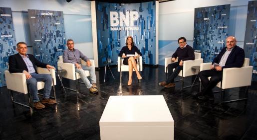 Vicent 'Benet', Gian di Terlizzi, Javier Marí y José Luis Benítez participaron en el debate de ayer.