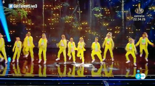 Imágenes de la actuación del miércoles por la noche en el programa de televisión 'Got Talent'..