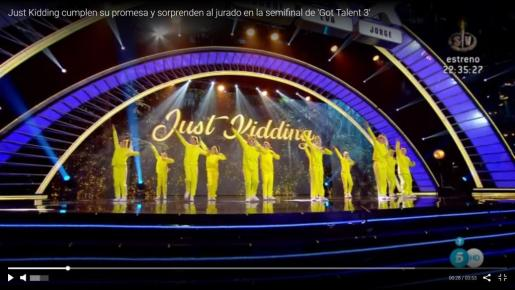 'Just kidding' sorprende en la semifinal de 'Got Talent España'.