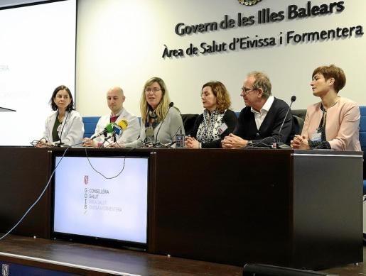 La consellera de Salut, Patricia Gómez, estuvo ayer en Ibiza.