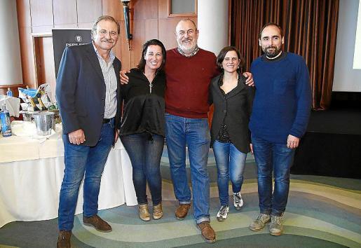 Lucas Reus, Pilar Oliver, Miquel Jaume, Mireia Majoral y Andreu Majoral.