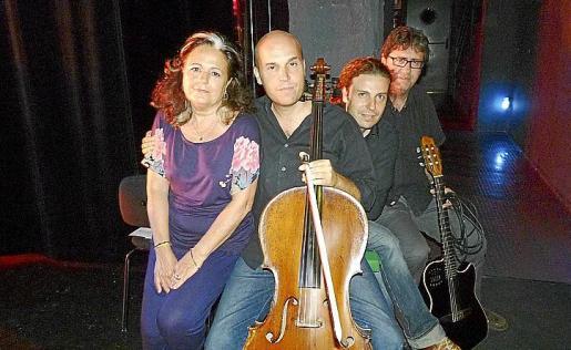 Miquela Lladó, Miguel Àngel y Xisco Aguiló y Pep Balaguer.