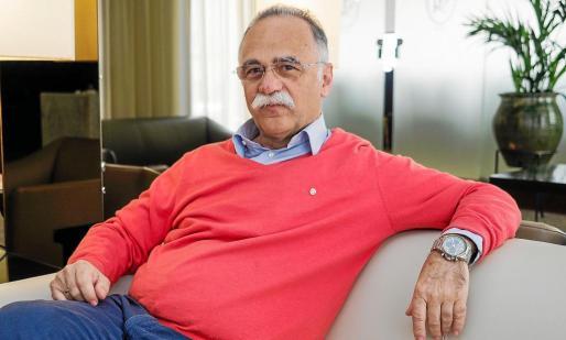El gobernador del distrito rotario 2203, Luis Santos Serrano, ayer por la mañana en el Hotel Royal Plaza de Ibiza.
