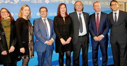 Susana Labrador, María Salom, Llorenç Huguet, Francina Armengol, Martí March, Jaume Ferrer y Iago Negueruela.