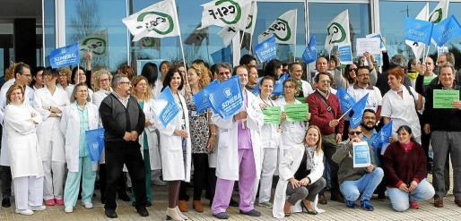 La exigencia del catalán en la sanidad ha provocado protestas en una parte de los trabajadores del sector.