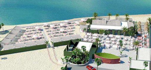 Recreación del nuevo establecimiento, ubicado en la playa de Talamanca.