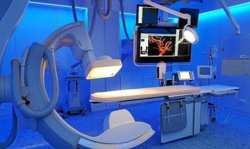 La sanidad privada dispone de moderna tecnología en 3D. En la imagen el Hospital Quirónsalud Palmaplanas.
