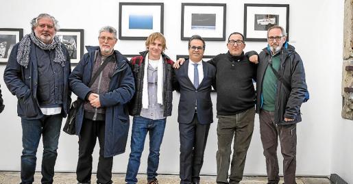 Rui Morao, Juan Carlos Gargiulo, Pablo Tarrero, Bernardino Castro (director del centro), Joan Forteza y Ramón Siscart.