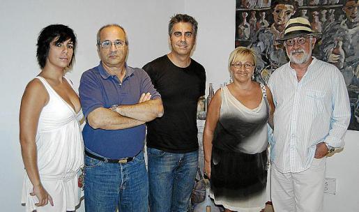 Almudena Molano, Santiago Muñoz, Mateu Bennàssar, María Antonia Porcel y Gabriel Mestre.