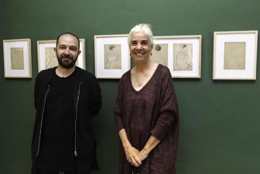 Pep Tur y Elena Ruiz durante la presentación de la exposición.