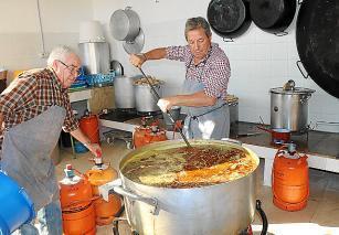 Imagen de la última comida solidaria en Santa Eulària.