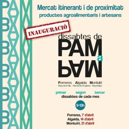 El mercado 'Dissabtes de pam a pam' se inaugura en Porreres.