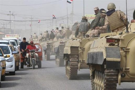 Las fuerzas de Irak lanzan operaciones a gran escala contra Estado Islámico en tres provincias del país.