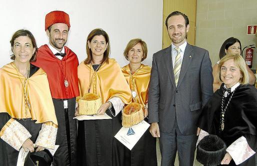 Margalida Payeras, José Luis Mateo, María Antonia García, Marta Jacob, José Ramón Bauzá y Montserrat Casas.