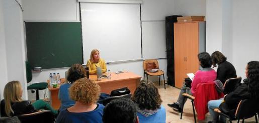 Imagen de la jornada que se celebró ayer en la Cooperativa Agrícola de Sant Antoni.