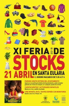 Cartel de la Feria de Stocks de Santa Eulària.