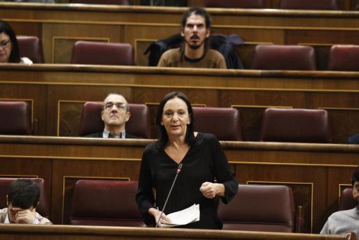 La diputada de Podemos Carolina Bescansa en el Congreso.