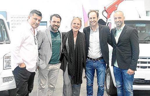 Alberto Hernández, José Tirado, Esther Vidal, Joan Massanet y Antonio Vadillo.