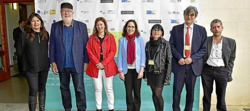 Cristina Gómez, Pedro Barbadillo, Paula Ginard, Rosa María Cañameras, Elisenda Farré, Giovanni Cozzi y Xisco M. Rotger.