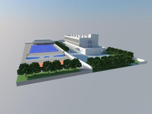Recreación virtual del proyecto del nuevo centro.