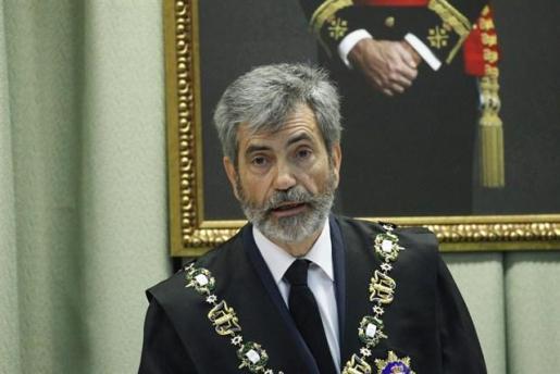 El presidente del Tribunal Supremo y del Consejo General del Poder Judicial (CGPJ), Carlos Lesmes, en una imagen de archivo.