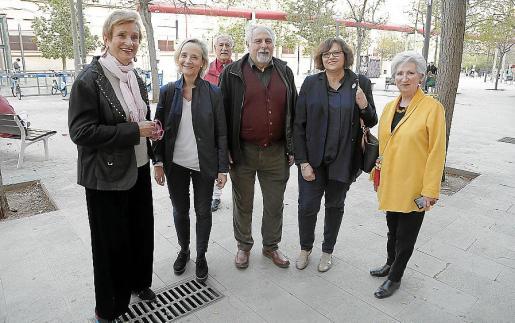 Rita Win, Marta Vall-Llosera, Sebastià Cruellas, Maria Salom y Caterina Aguiló.