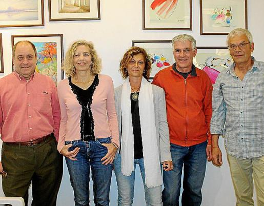 Juan José Company, Reyes López, Neus Fuster, Santi Fernández y Paco Santomé.
