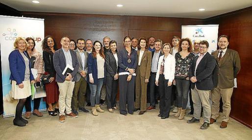 Organizadores y colaboradores, en la presentación de Connect'Up.