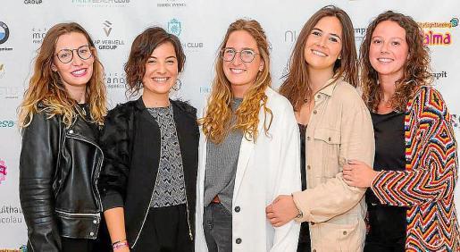 Luisa Espases, Aina Morano, Sara Moralejo, Marta Aleñar y Rosa Bermúdez.