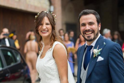 Alberto Garzón y Anna Ruiz el día de su boda.