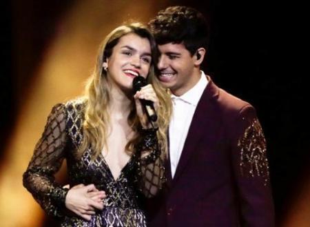 Amaia y Alfred, durante su actuación en la final de Eurovisión.