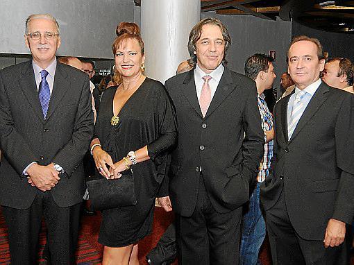 Pedro Comas, Eleonor Roselló, Miguel Ortiz-Cañavate López y Sebastián Enseñat.