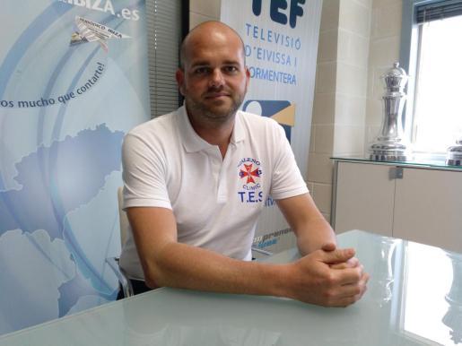 Imagen de Alejandro Romero en las instalaciones del Grupo Prensa Pitiusa.