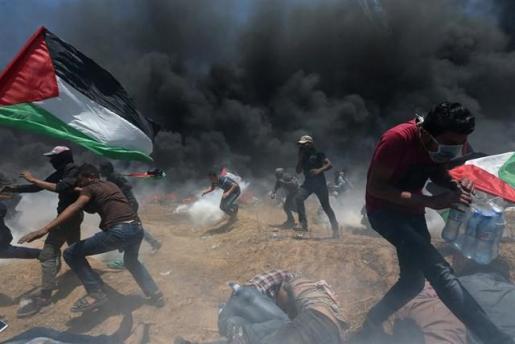 Aumenta a 59 la cifra de palestinos muertos en las protestas en Gaza.