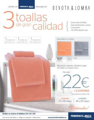 Cartel de la primera promoción de toallas.