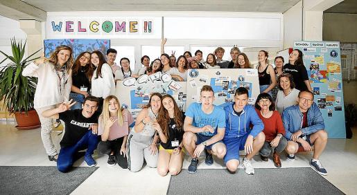 Imagen de los alumnos de Erasmus+ durante su estancia en el IES Sant Agustí.