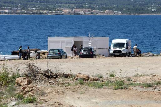 Imagen del nuevo chiringuito en Cala Gració.