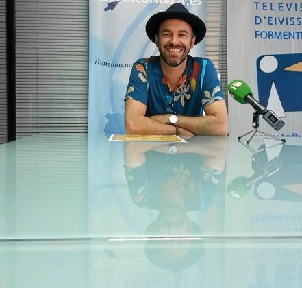 Maxwell Moya ayer en las instalaciones del Grupo Prensa Pitiusa.