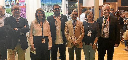Lluís Socias, Maria Paula Ginard, Vicenç Vidal, Cosme Bonet, Marga Amat y Jaume Alzamora.